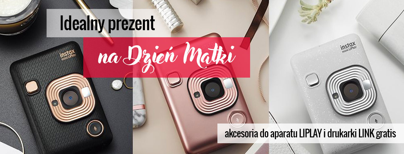Akcesoria gratis do Instax Mini Liplay i Instax Mini Link